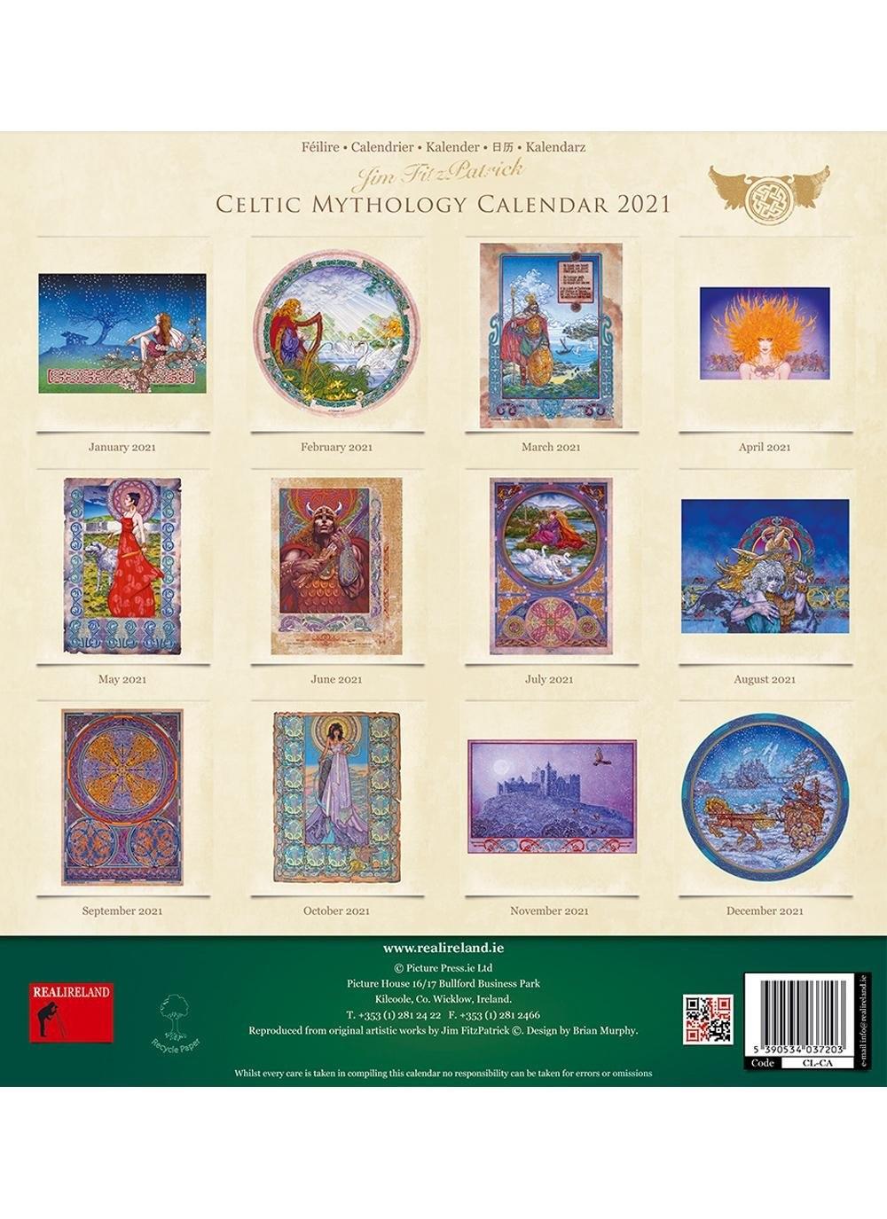 Celtic Mythology 2021 Calendar | Blarney with 2021 Calendar Trinidad And Tobago