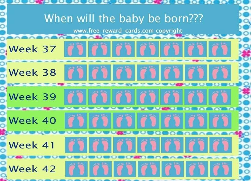 Countdown Calendar Baby Born - Website with regard to 6 Week Countdown Calendar Photo