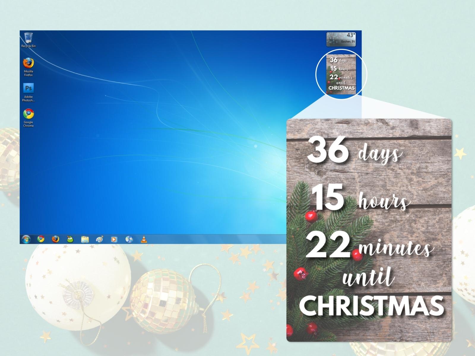 Countdown Calendar Widget For Desktop   Free Calendar Template Example in Countdown Calendar For Computer Desktop Image