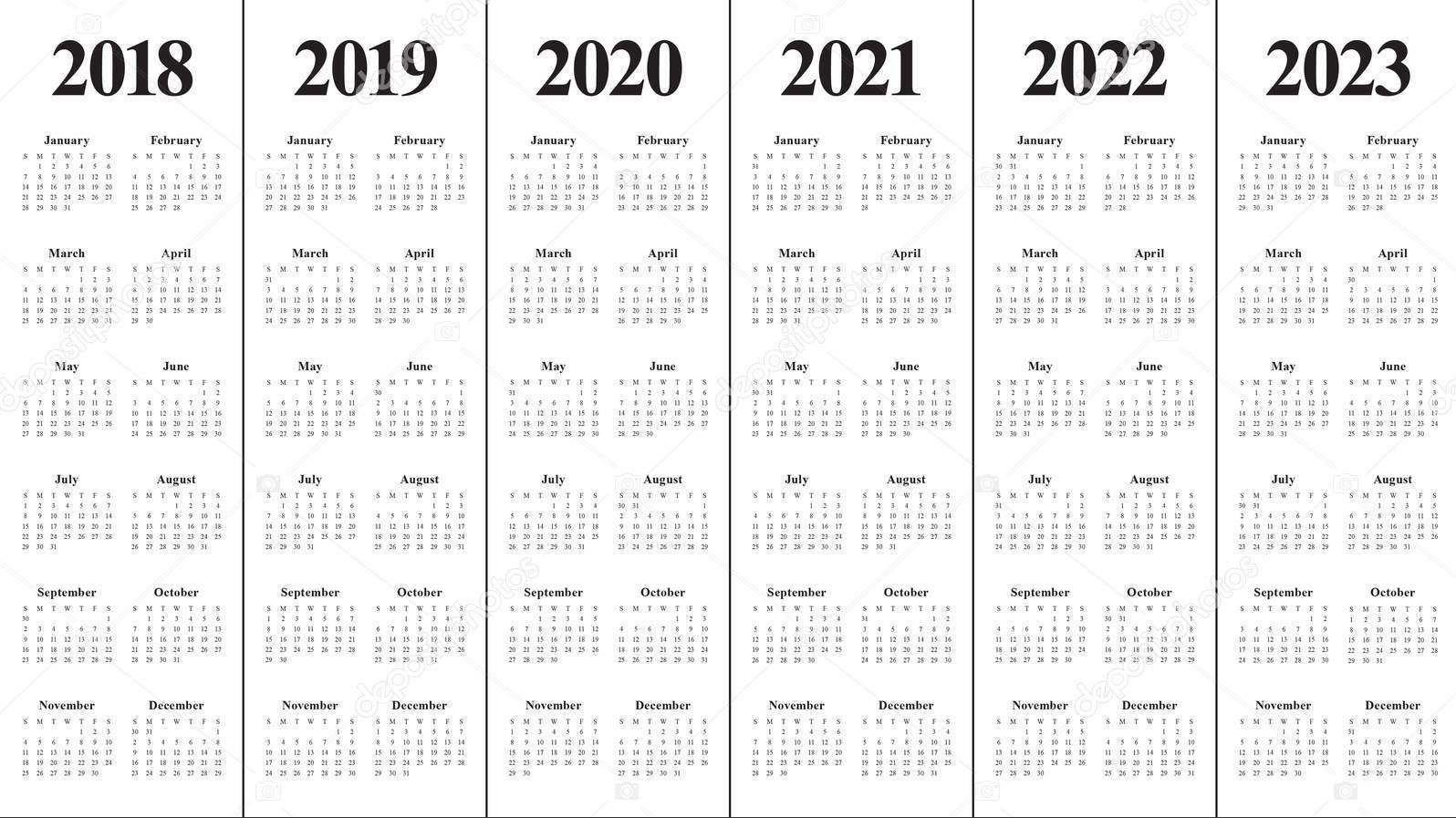 Create Your Printable Multi Year Calendars On One Page | Get Your Calendar Printable throughout Sample One Page Multi Year Calendars Image