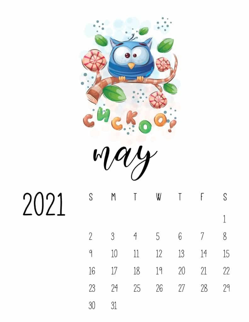 Cutest Happy Animals Calendar 2021 - World Of Printables for Which Calendar Year Match 2021 Graphics