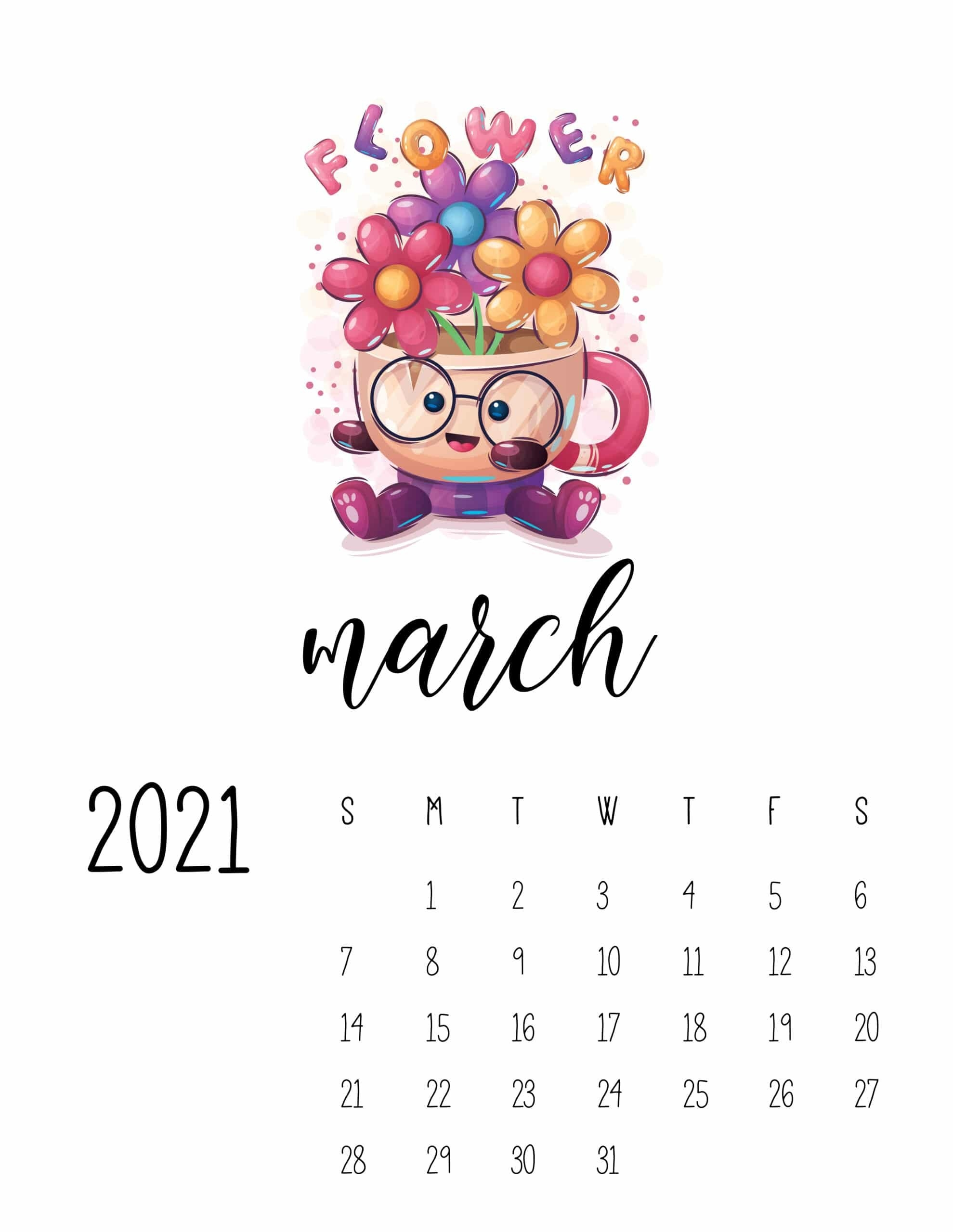 Cutest Happy Animals Calendar 2021 - World Of Printables with regard to What Year Calendar Matches 2021 Graphics