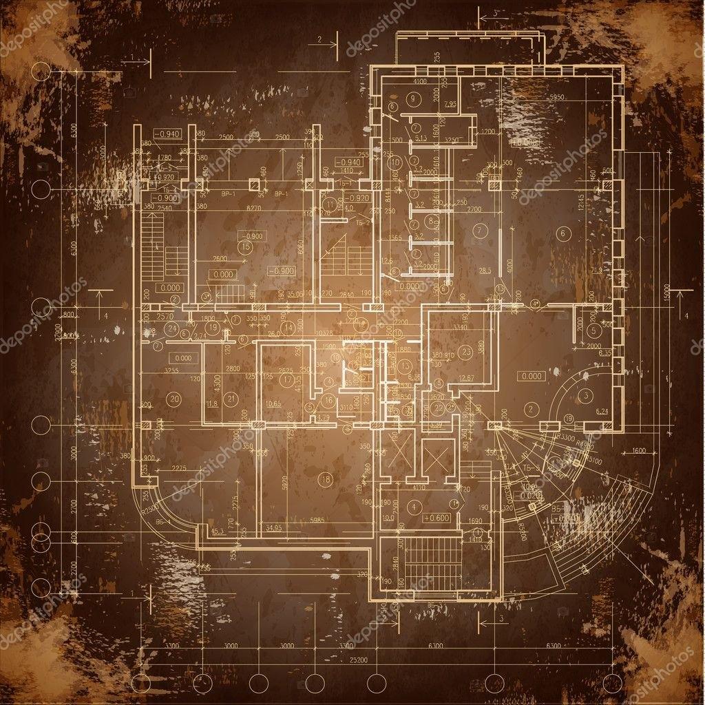Архитектурный Фон. Часть Архитектурного Проекта, Архитектурного Плана, Технического Проекта within Картинка Для Плана Сетки Image