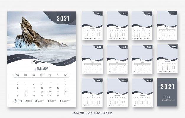 Diseño De Plantilla De Calendario De Pared 2021 | Archivo Psd Premium pertaining to Church Calendar 2021 Psd Image