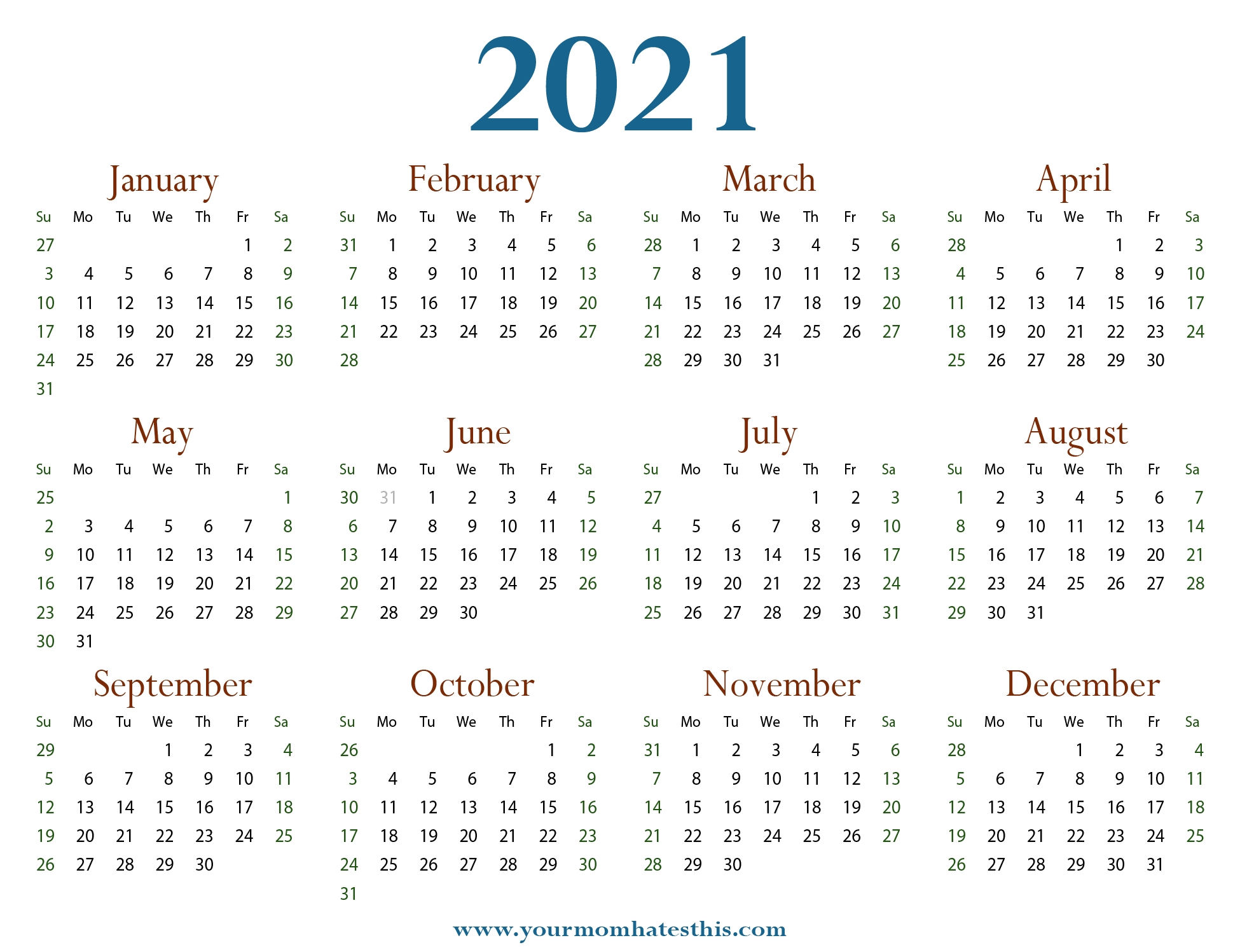 Download 2021 Calendars & Pdf Templates in Yrdsb Calendar 2019 2021