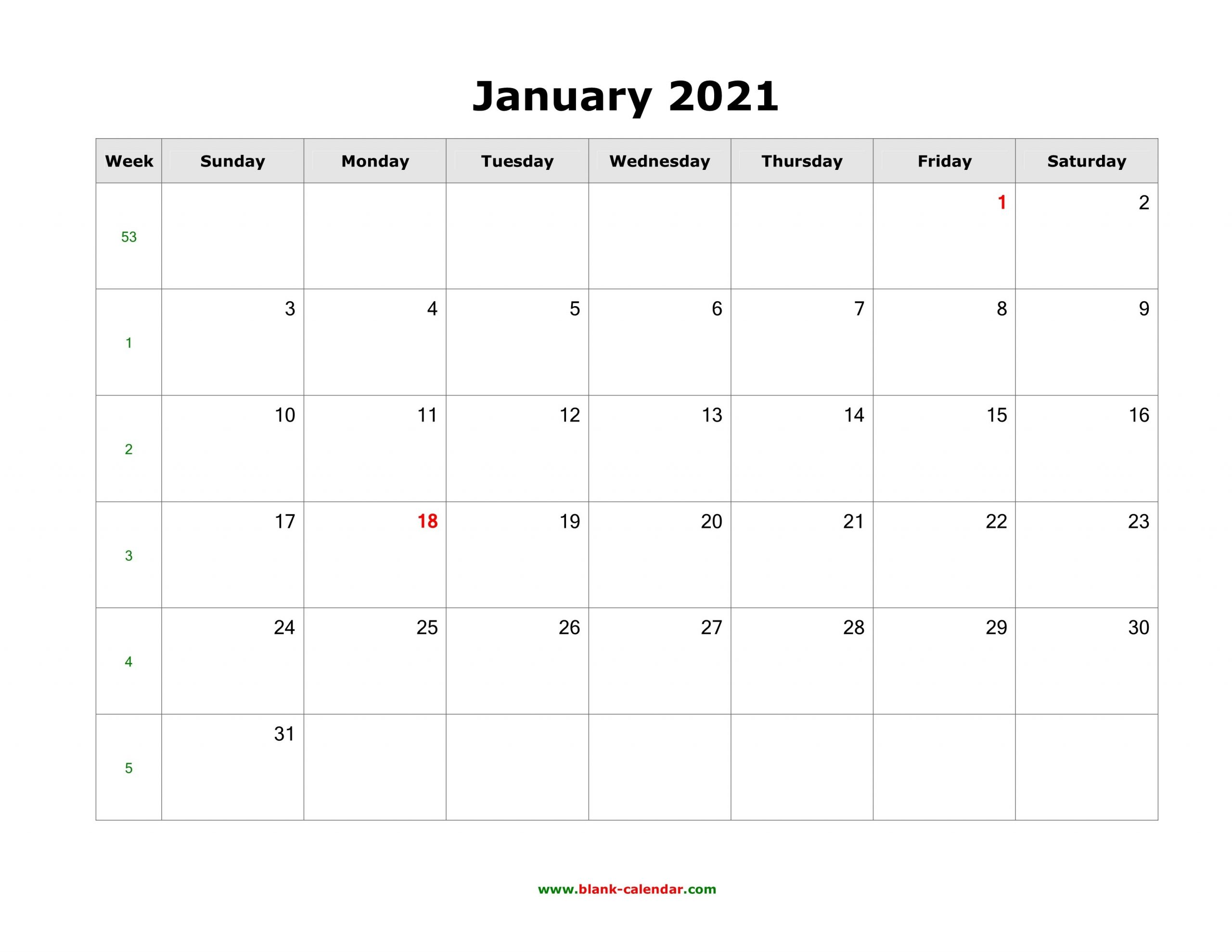 Download Blank Calendar 2021 (12 Pages, One Month Per Page, Horizontal) regarding Free Photo 2021 Calendar To Download