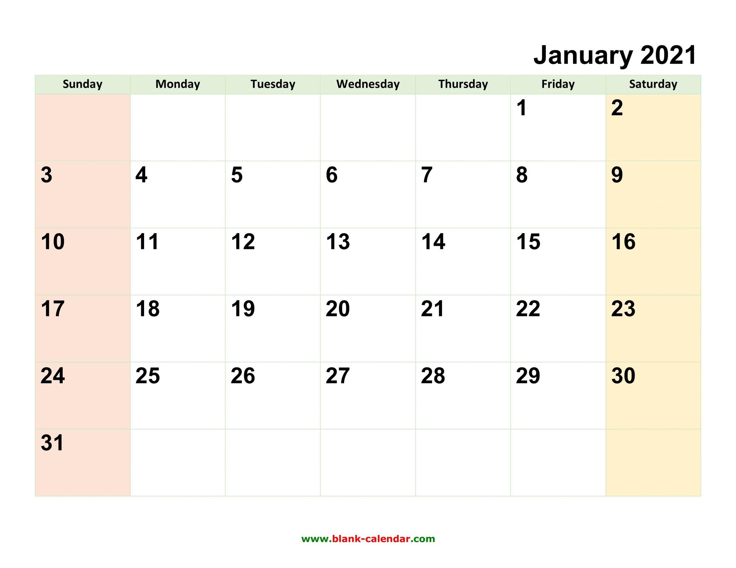 Editable 2021 Calendar inside 2021 Free Printable Weekly Calendar Blank Image
