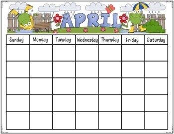Editable Calendarjudy Tedards | Teachers Pay Teachers within 11X17 Activity Calendar Layot Graphics