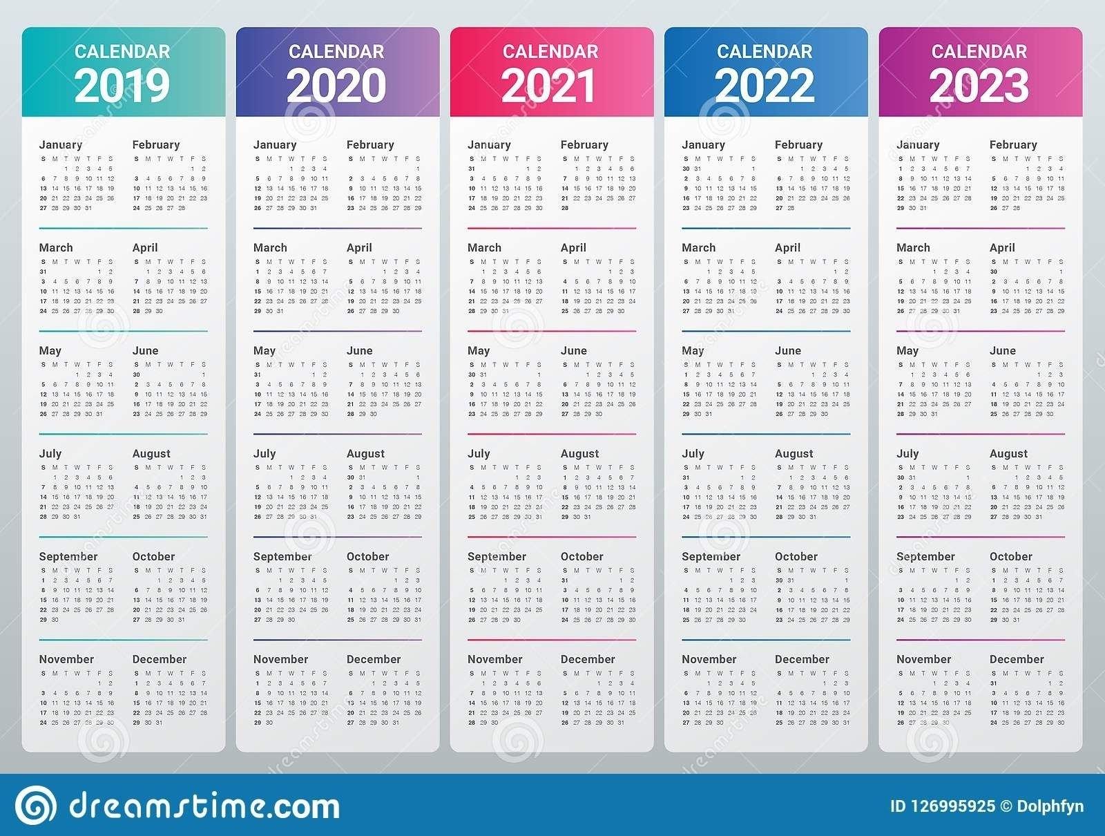 Effective Free Printable 5 Year Calendar | Get Your Calendar Printable within 2021 To 2025 Calendar Image