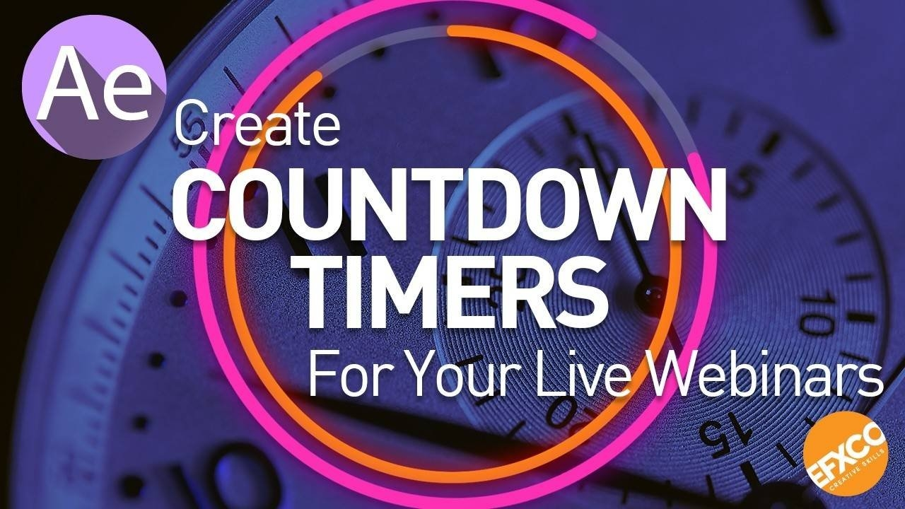 Efxco Tutorial - Create Countdown Timers For Your Live Webinars regarding Countdown Graphics For Facebook Image
