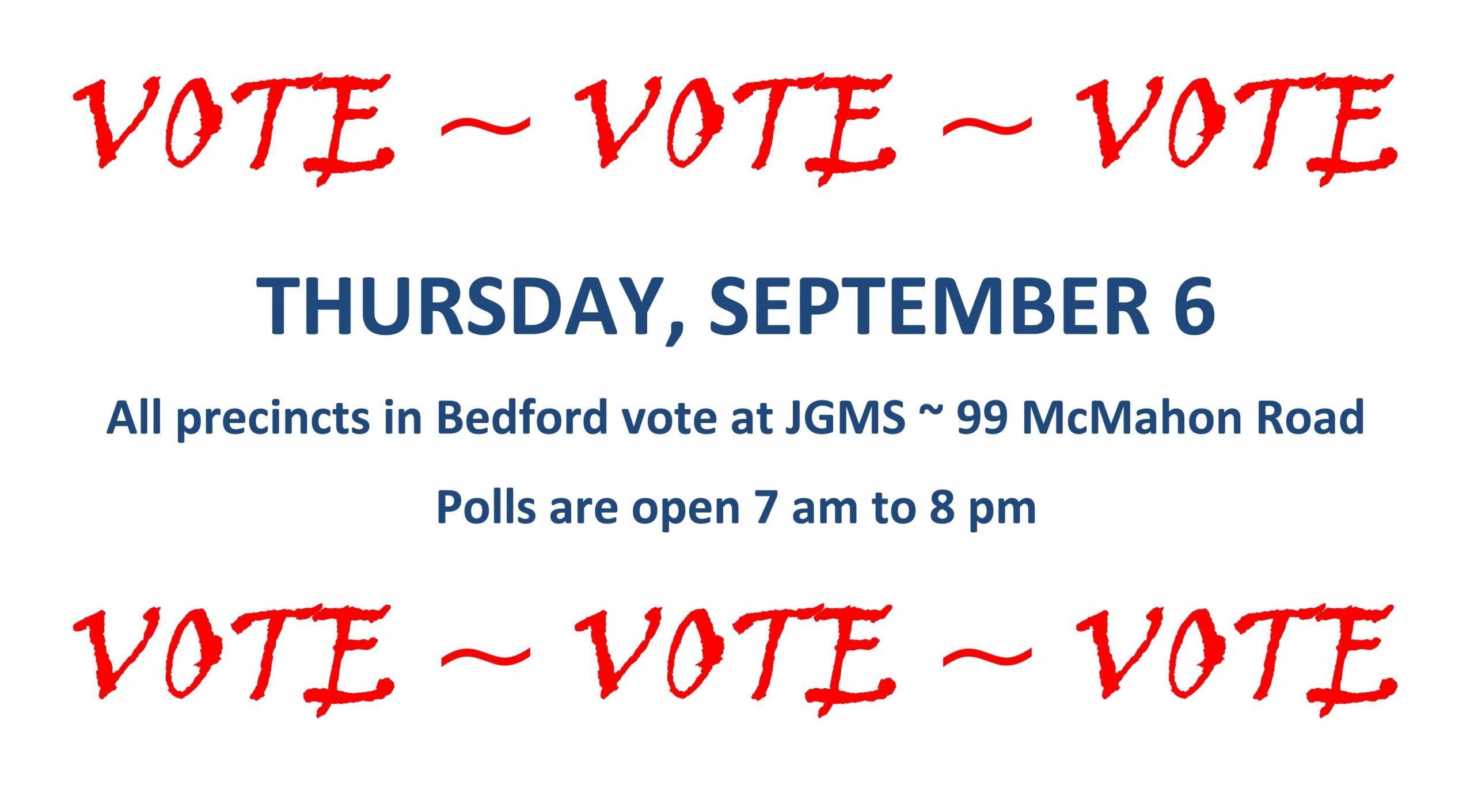 Election Countdown: Tomorrow - The Bedford Citizen for Countdown To Election Calender