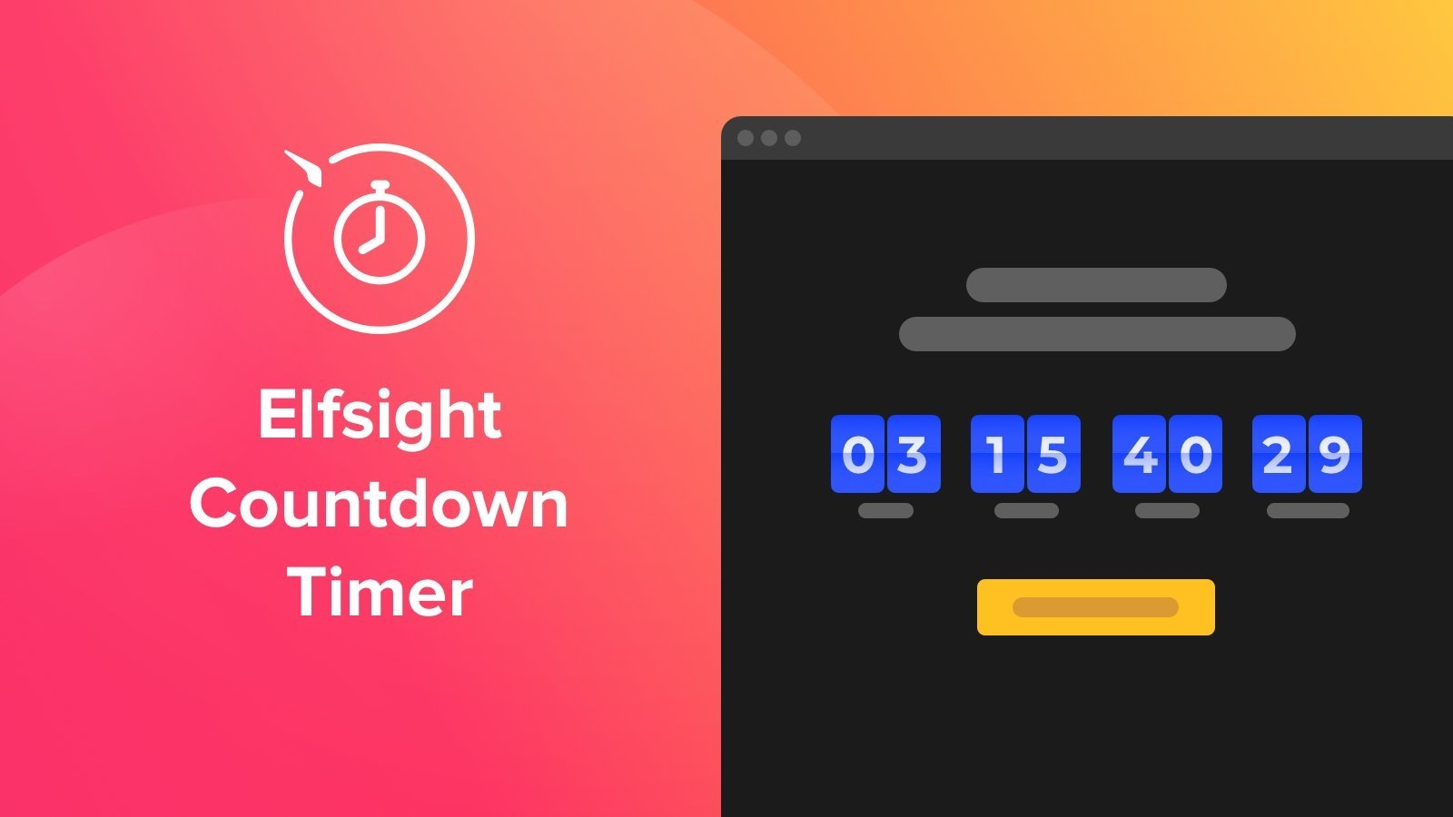 Elfsight Countdown Timer - Ecommerce Plugins For Online Stores - Shopify App Store for Countdown Graphics For Facebook Image