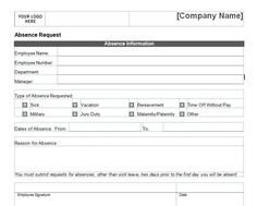 Employee Leave Application Form | Leaves Application Form | Pinterest | Application Form with regard to Vacation Employee Planners Canadian