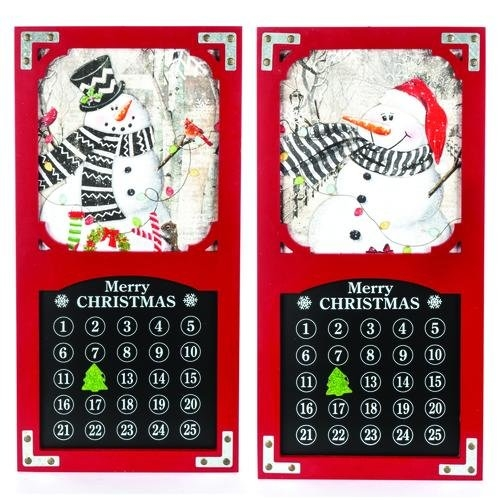 """Enchanted Forest® 23.6"""" Wood Holiday Countdown Calendar - Assorted Styles At Menards® intended for 6 Week Countdown Calendar Photo"""