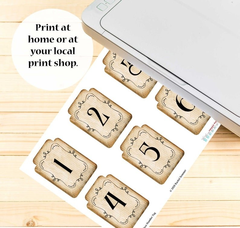 Ephemera Junk Journal Printable Numbers 1-31 Month Cards | Etsy intended for Printable Number Cards 1-31 Graphics