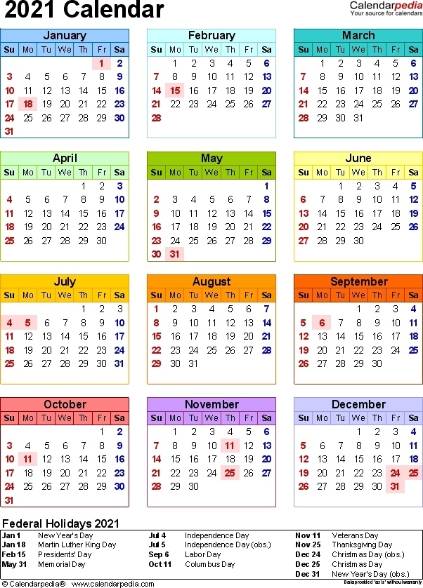 Excel Calendar With Week Numbers 2021   Calendar Printables Free Blank pertaining to 2021 Calendar With Numbered Days Photo