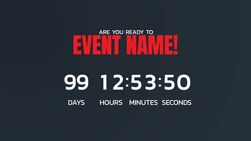 Facebook Live Countdown | Livereacting intended for Countdown Graphics For Facebook