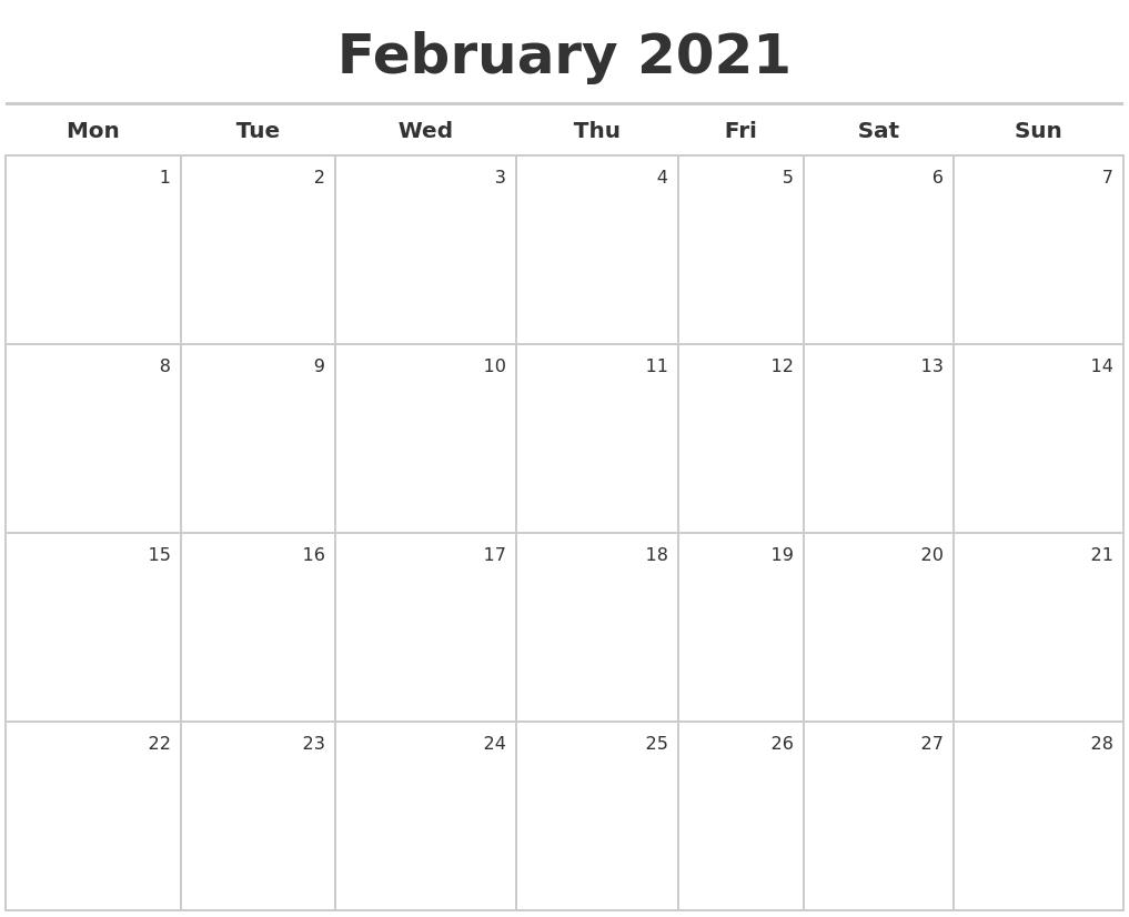 February 2021 Calendar Maker in Calendar Photo Maker 2021 Image
