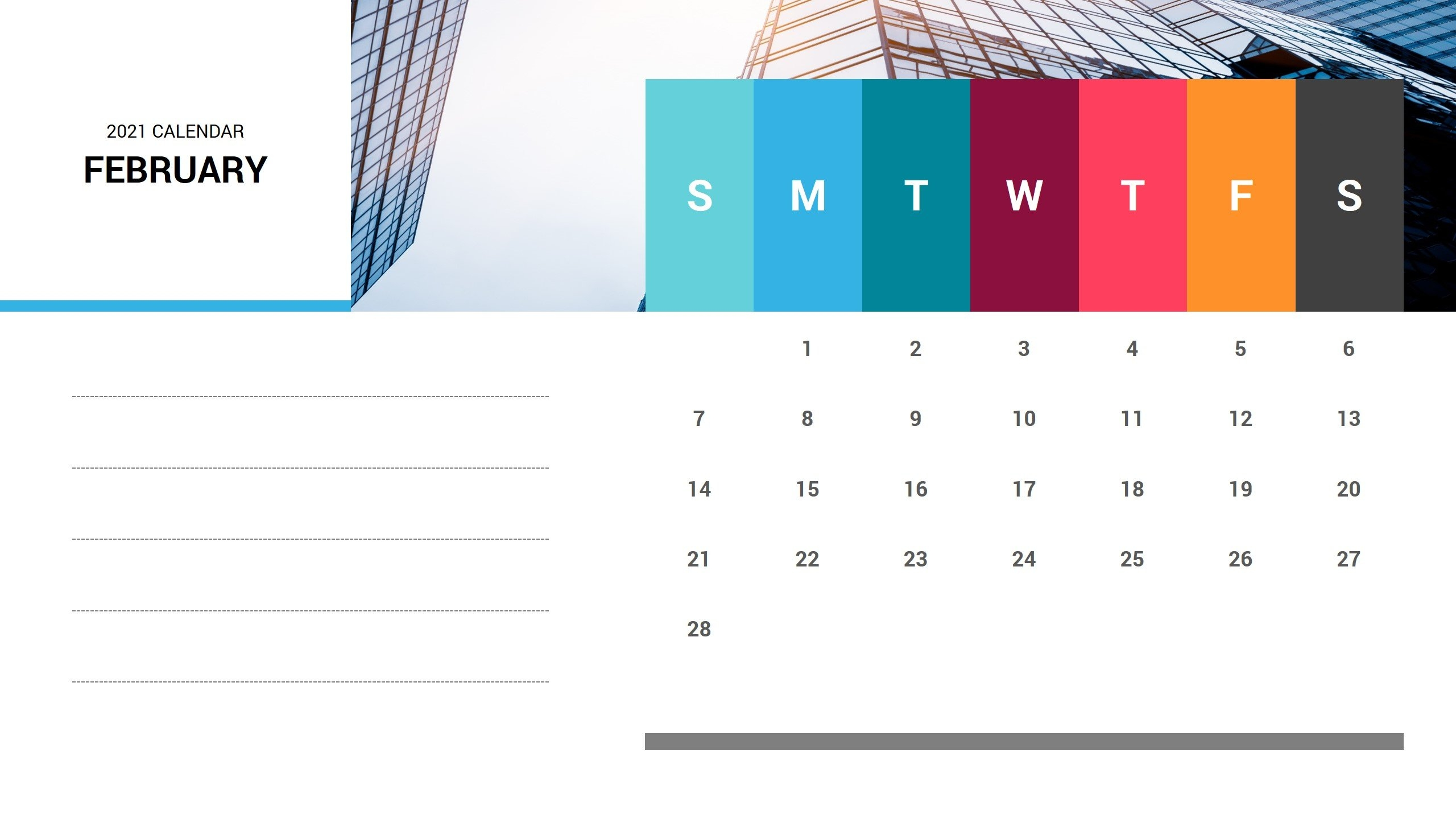 February 2021 Calendar Powerpoint Template | Ciloart with regard to Ppt Calendar Template 2021 Photo