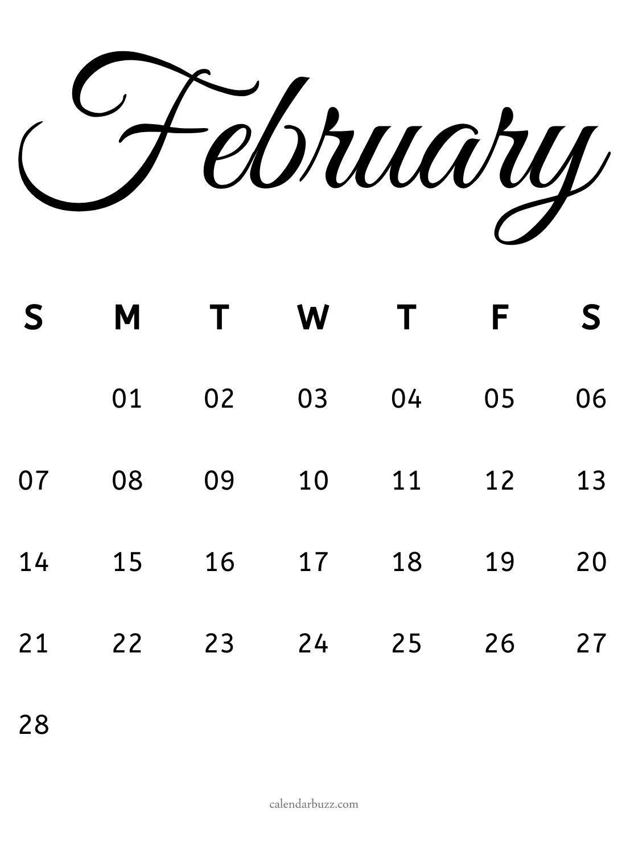 February 2021 Calligraphy Calendar Free Download | Calendarbuzz with Calendar 2021 Ziua Up