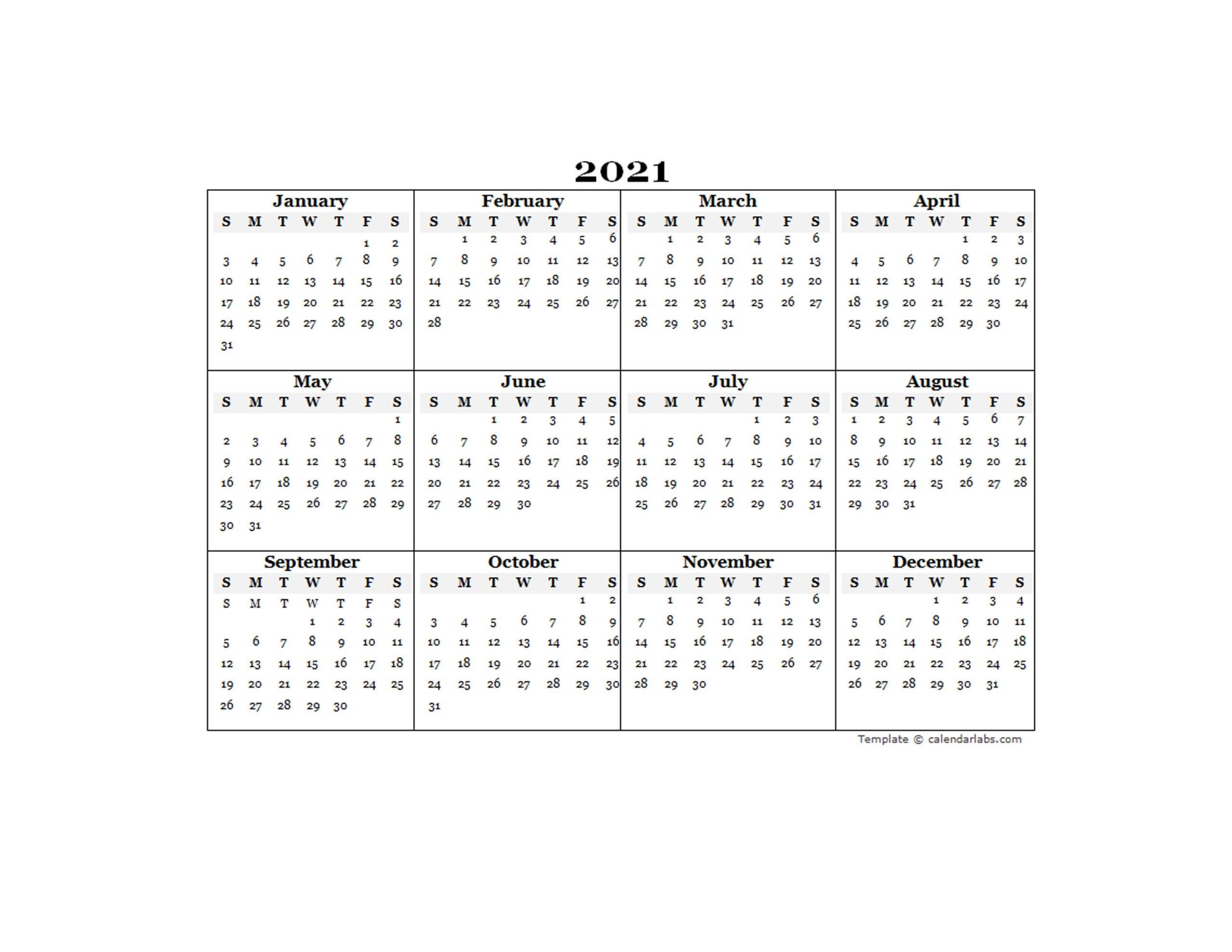Fiscal Year 2021 Calendar Excel | Printablecalendarsfor2021 regarding Ontario Calendar 2021 With Holidays