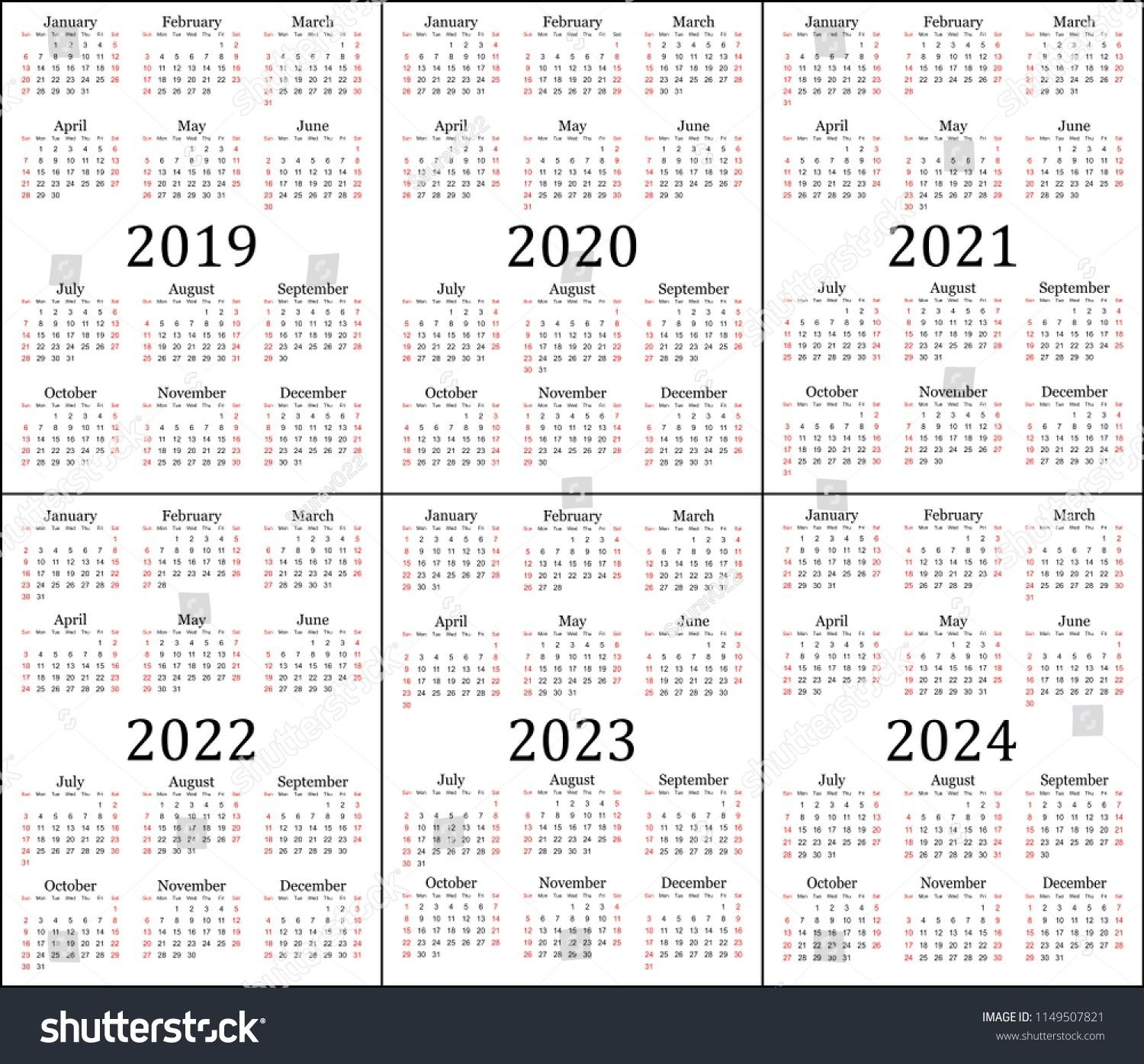 Five Year Calendars - Example Calendar Printable within Yearly Calendars 2021 To 2025 Graphics