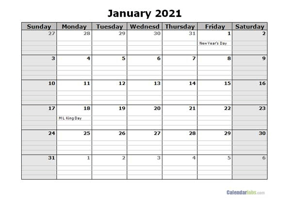 Free 2021 Daily Planner Word Template - Free Printable Templates in 2021 Planners Template Singapore