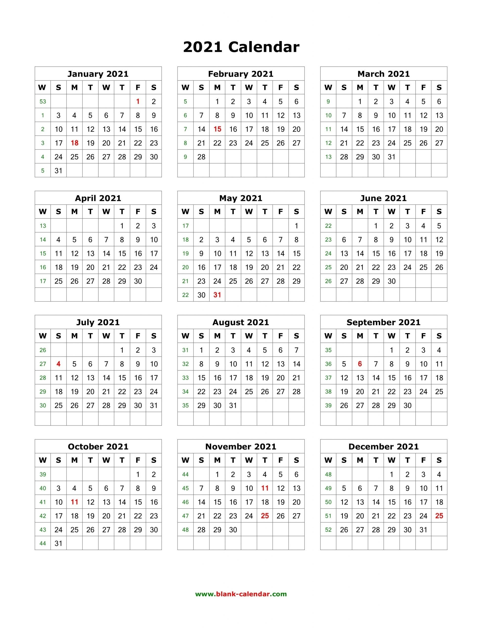 Free 2021 Printable Vertical Calendar | Month Calendar Printable with regard to 2021 Calendar Printable One Page