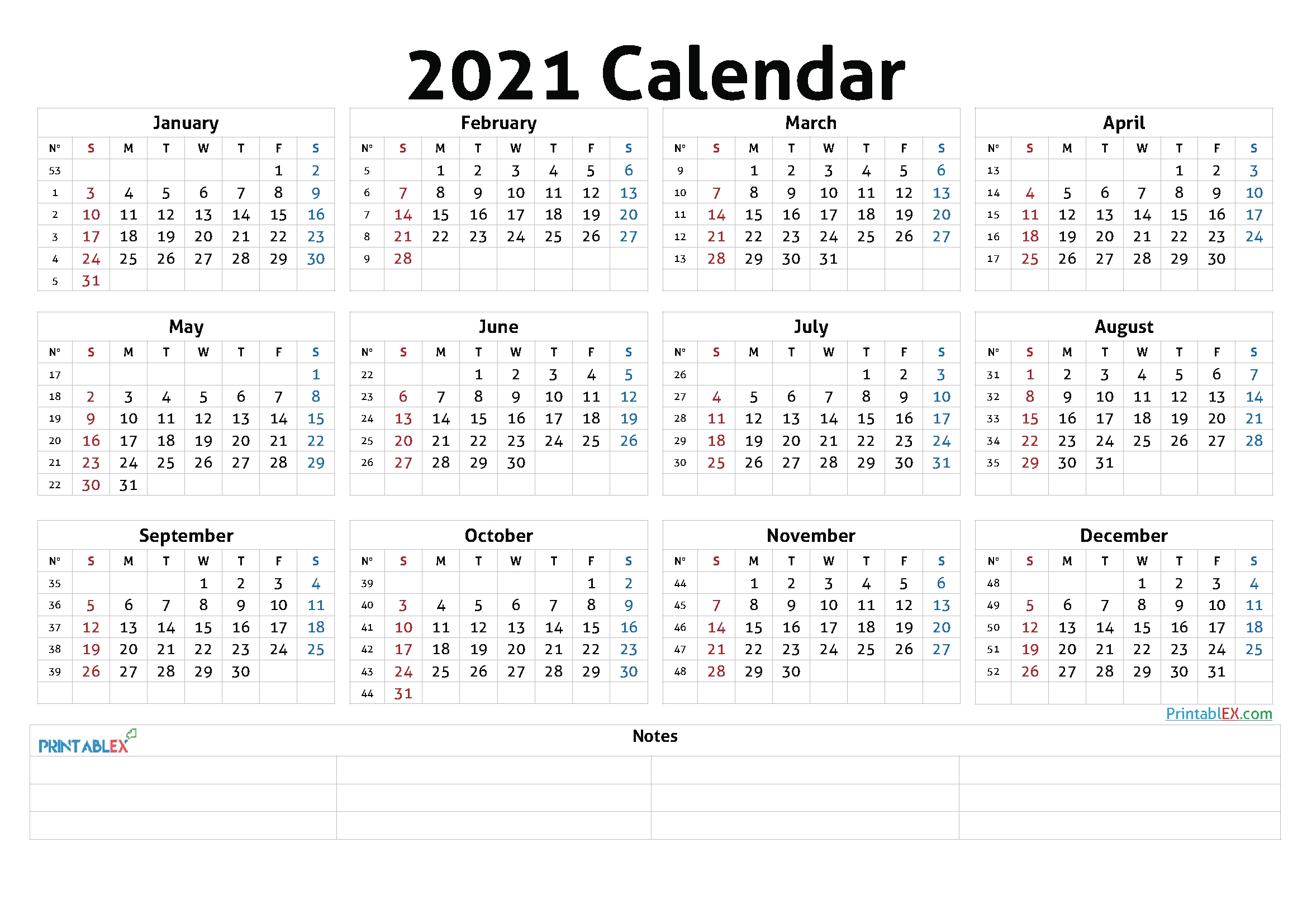 Free 2021 Yearly Calender Template : 2021 Yearly Calendar Template Vertical Design Free pertaining to Free Printable Calendarlabs 2021 Graphics