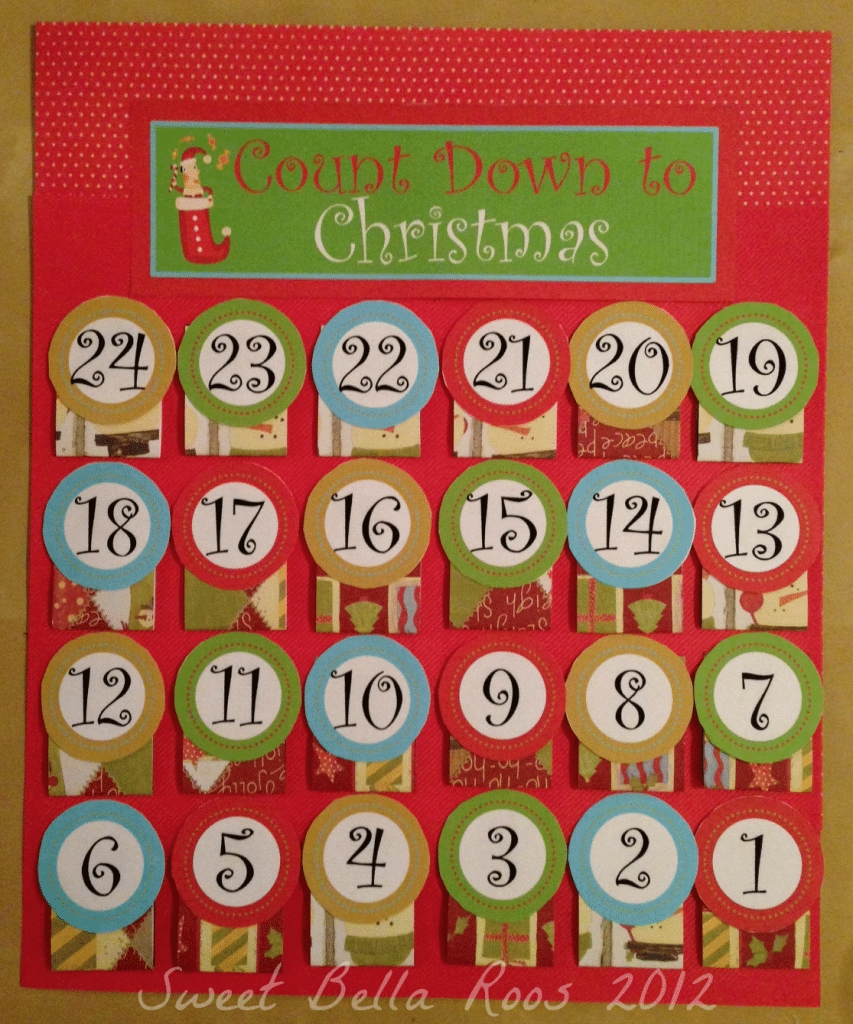 Free Advent Calendar Printable- Sweet Bella Roos with regard to Template For Advent Calendar Image