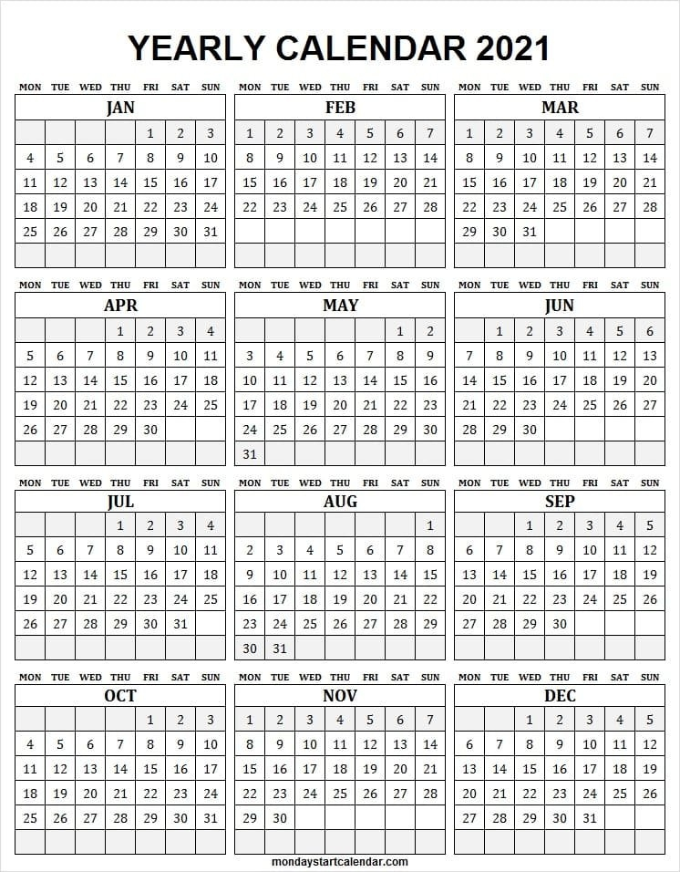 Free Downloadable 2021 Word Calendar / 2021 Printable Calendar Free Printable Calendar Com inside Free 2021 Calendar Excel Image