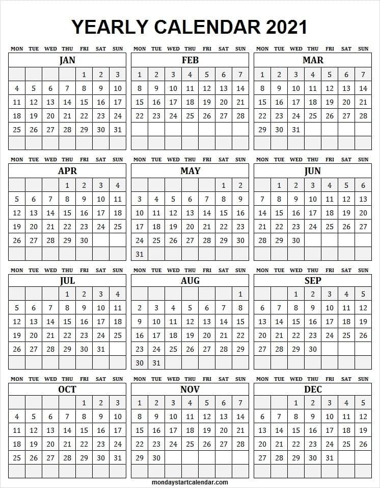 Free Downloadable 2021 Word Calendar / 2021 Printable Calendar Free Printable Calendar Com regarding Free Printable Calendar 2021 Graphics