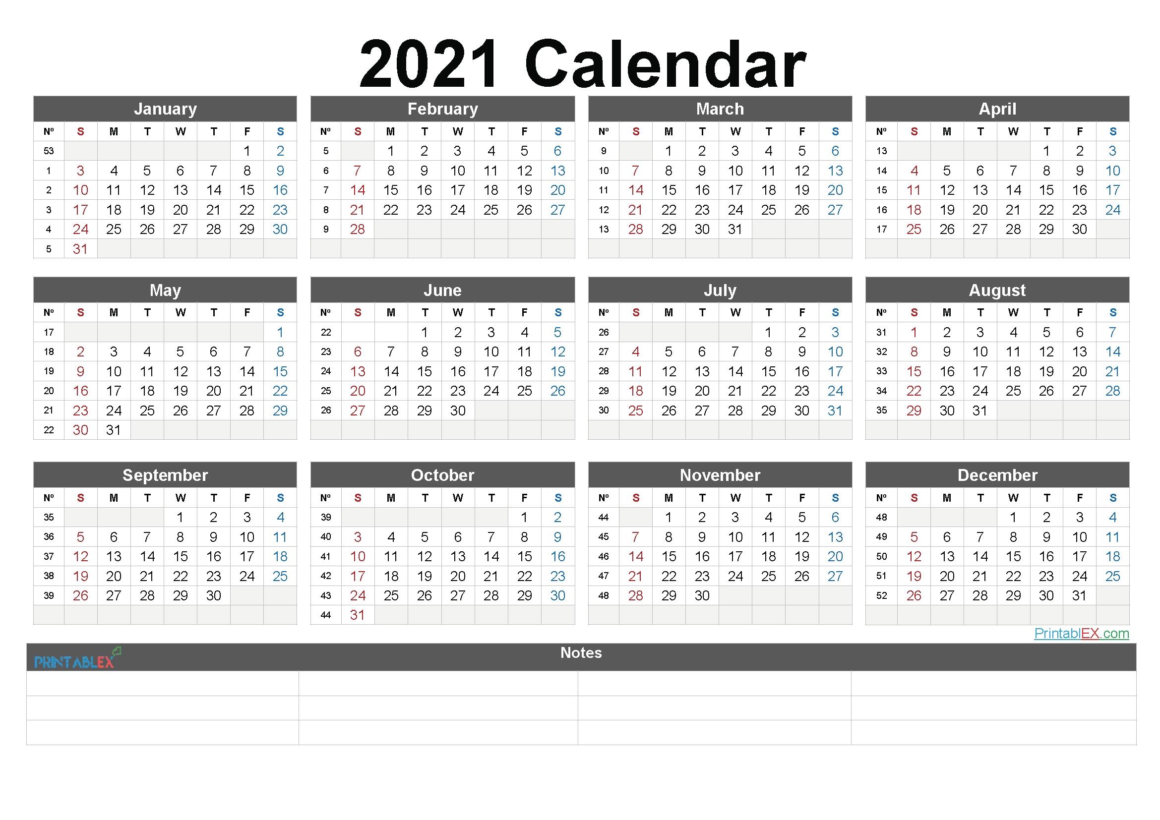 Free Downloadable 2021 Word Calendar - Blank Calendar 2021 Free Download Calendar Templates intended for Printable Weekly Calendar 2021 Photo