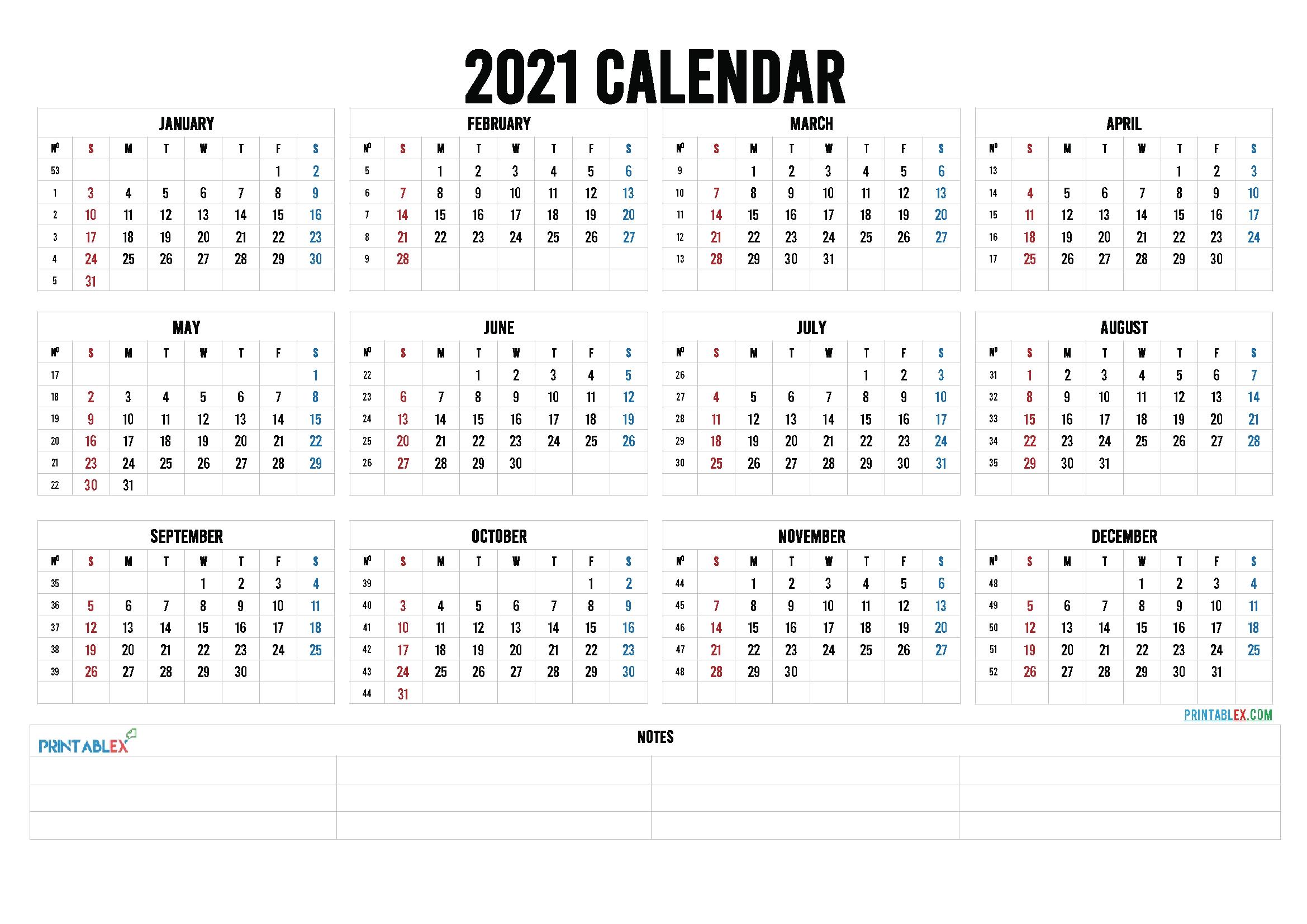 Free Editable Weekly 2021 Calendar : Custom Editable 2021 Free Printable Calendars Sarah Titus with regard to 2021 Yearly Calendar Template Printable