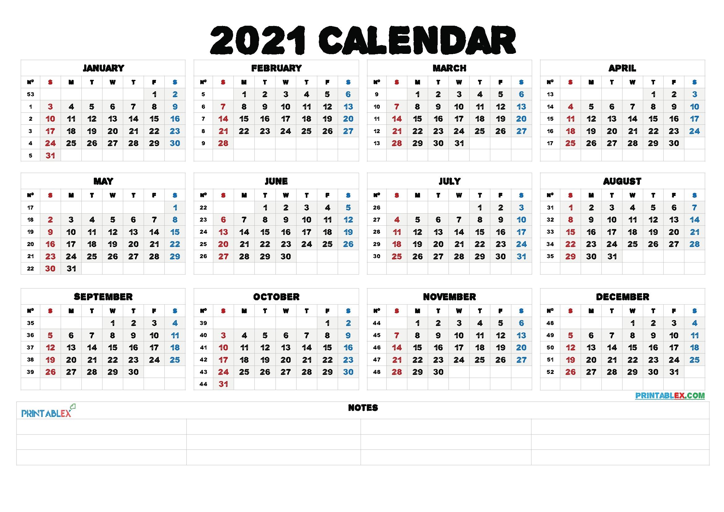 Free Editable Weekly 2021 Calendar - Free 2021 Monthly Calendar Template : Printable Blank in 2021 Free Printable Weekly Calendar Blank