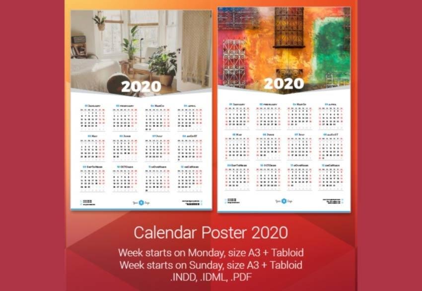 Free Indesign Calendar Template 2021   2021 Calendar with Indesign Calendar Template 2021