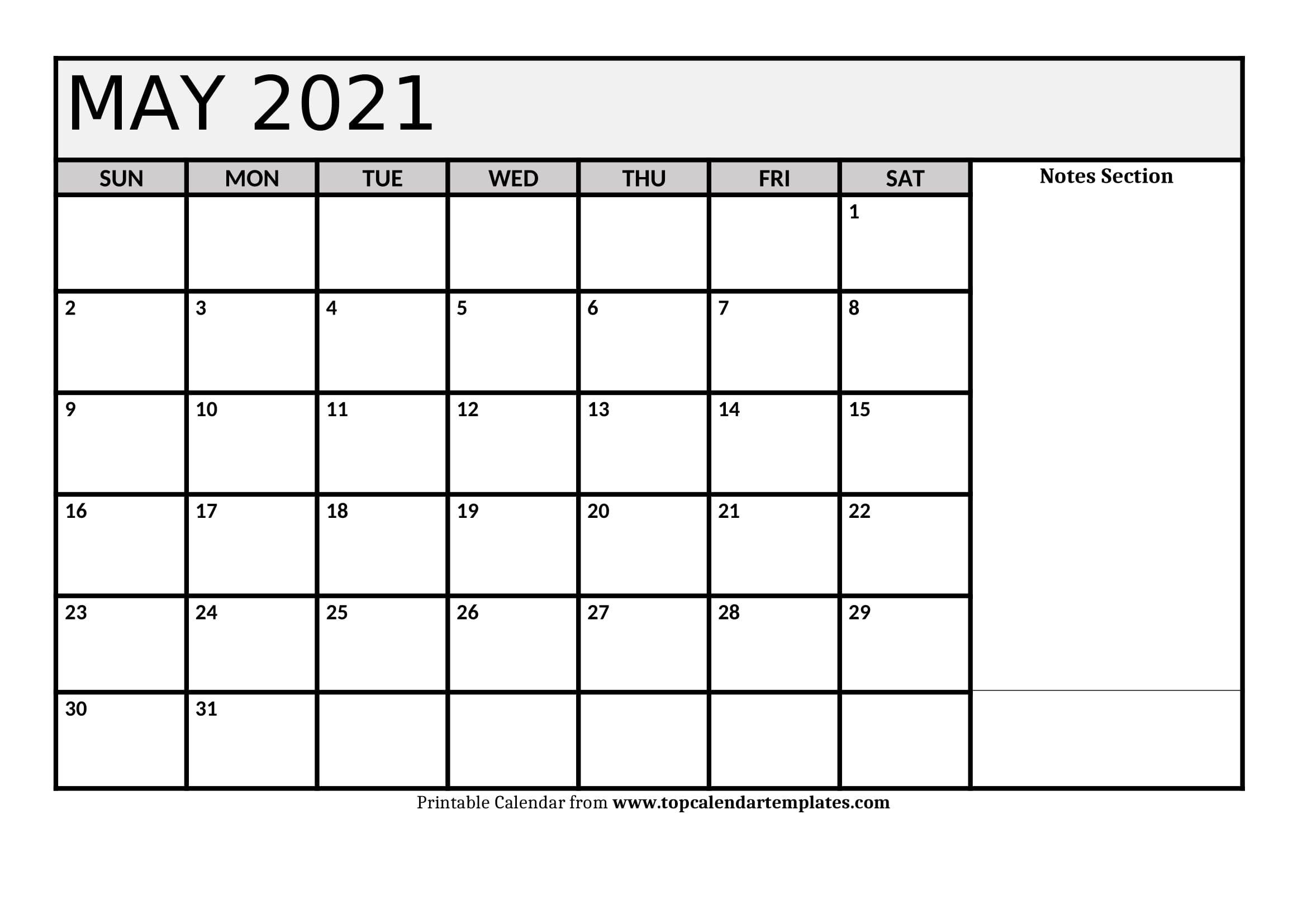 Free May 2021 Printable Calendar In Editable Format pertaining to 2021 Free Printable Weekly Calendar Blank