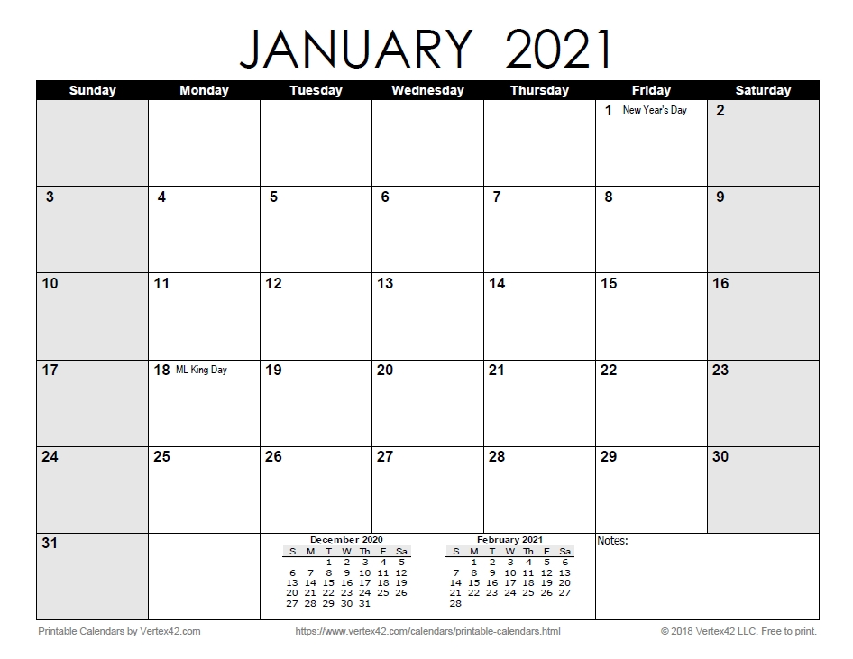 Free Print 2021 Calendars Without Downloading | Calendar Printables Free Blank with 2021 Weekly Calendars Printable Free Image
