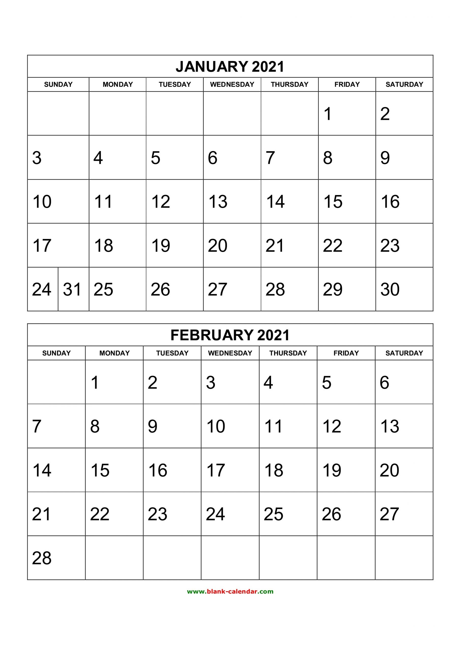 Free Printable 2020 Two Months Per Page Calendars   Example Calendar Printable for Calendar Templates 3 Months Per Page 2021