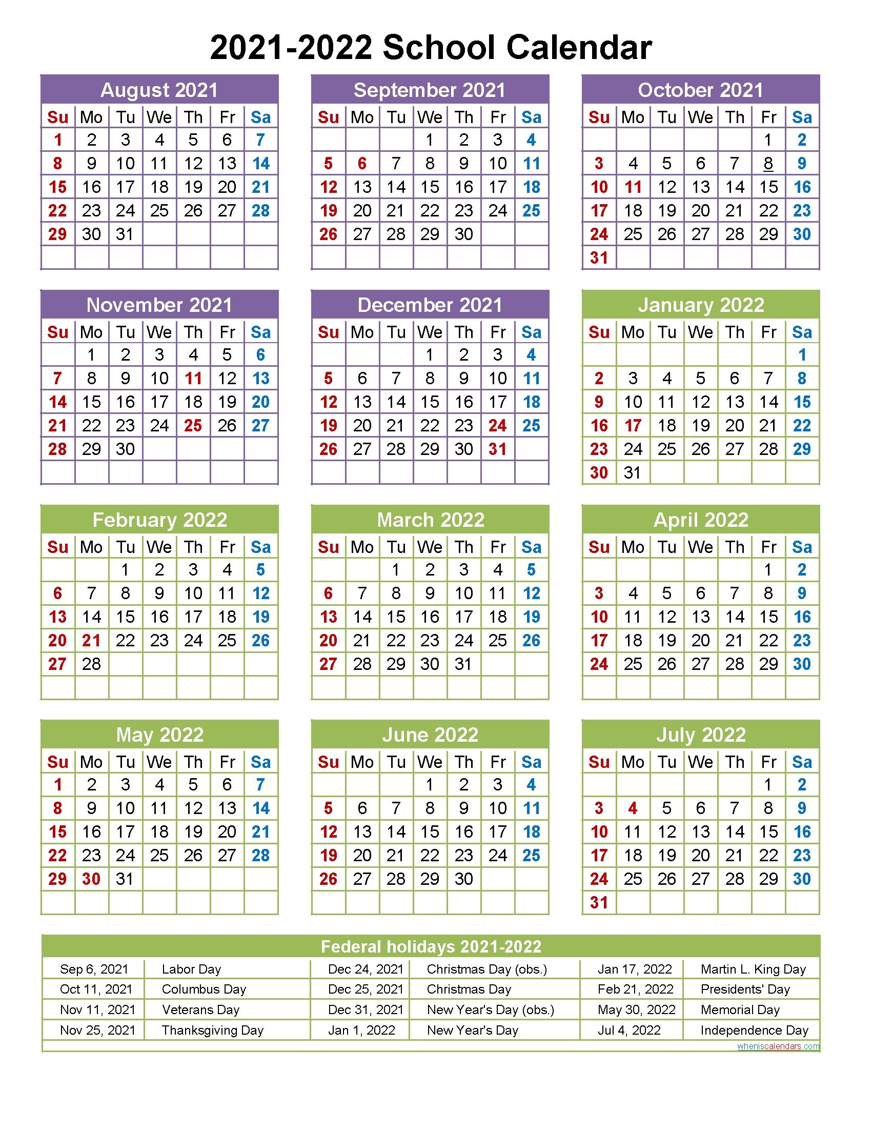 Free Printable 2021-2022 Calendar September | Printable Calendar with 3 Year Printable Calendar 2021 2021 2022 Graphics