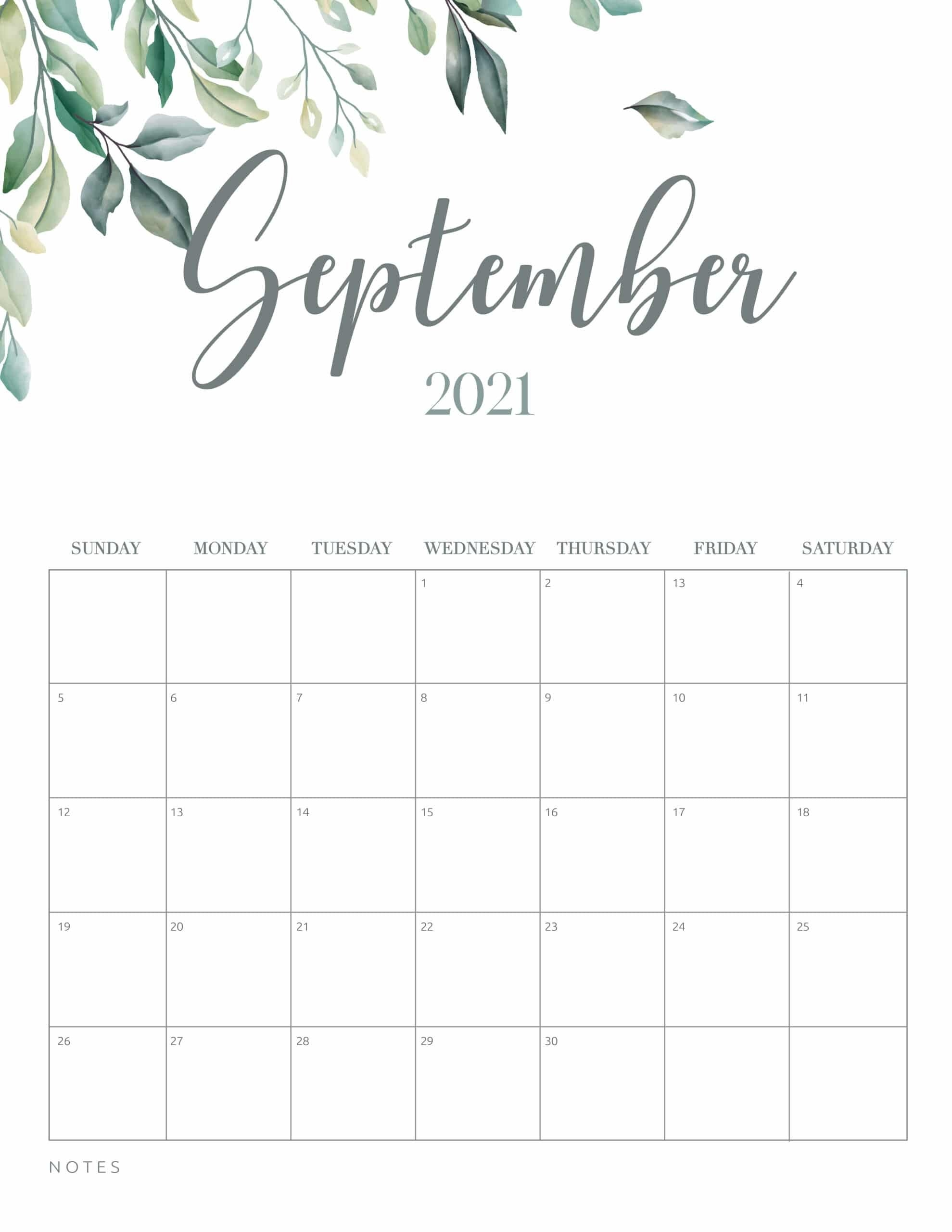 Free Printable 2021 Calendar Botanical Style - World Of Printables for Which Calendar Year Match 2021