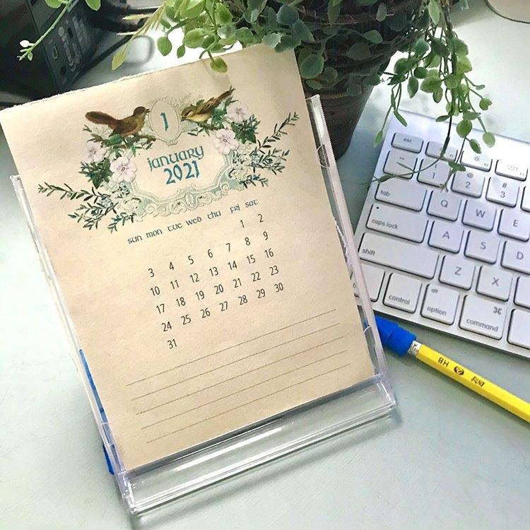 Free Printable Calendar 2021 - Cd Case Calendar! - The Graphics Fairy within Calendar Photo Maker 2021