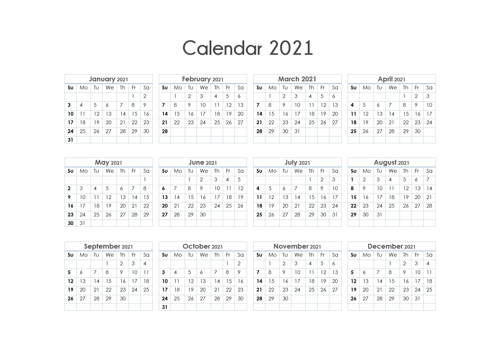 Free Printable Calendar Year 2021 | Month Calendar Printable pertaining to Free Printable Yearly Calendars 2021 Portrait