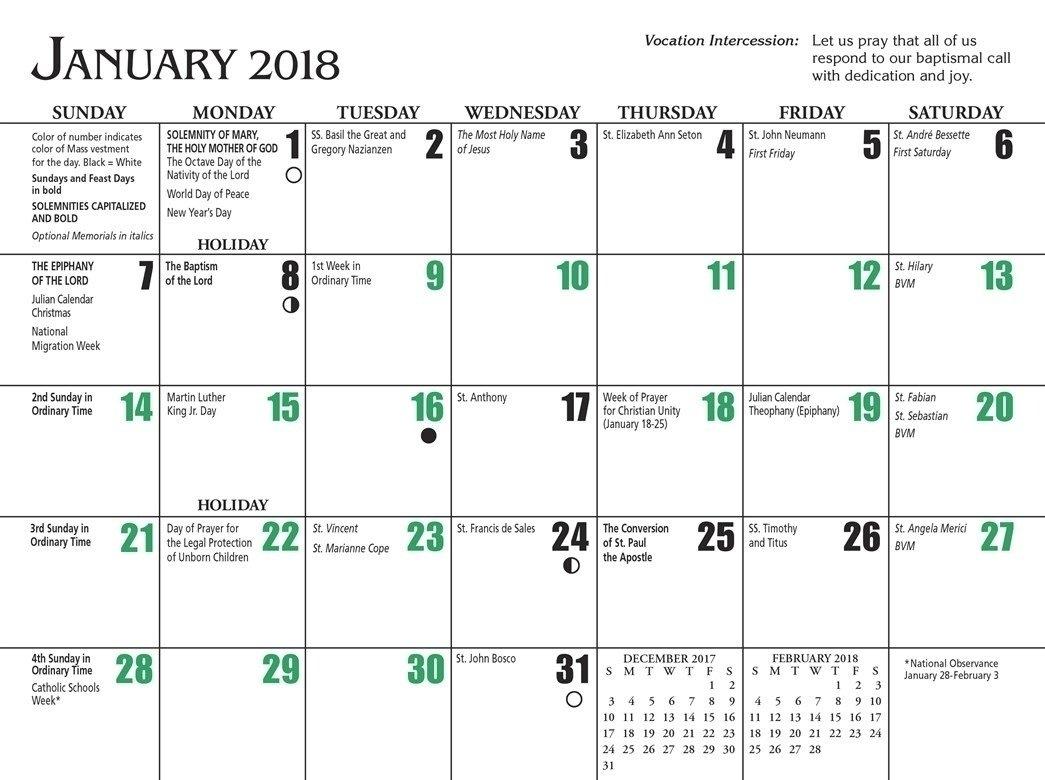 Free Printable Catholic Liturgical Calendar 2021 - 20+ Traditional Catholic Calendar 2021 - Free pertaining to Where To Get 2021 Catholic Calendars Made