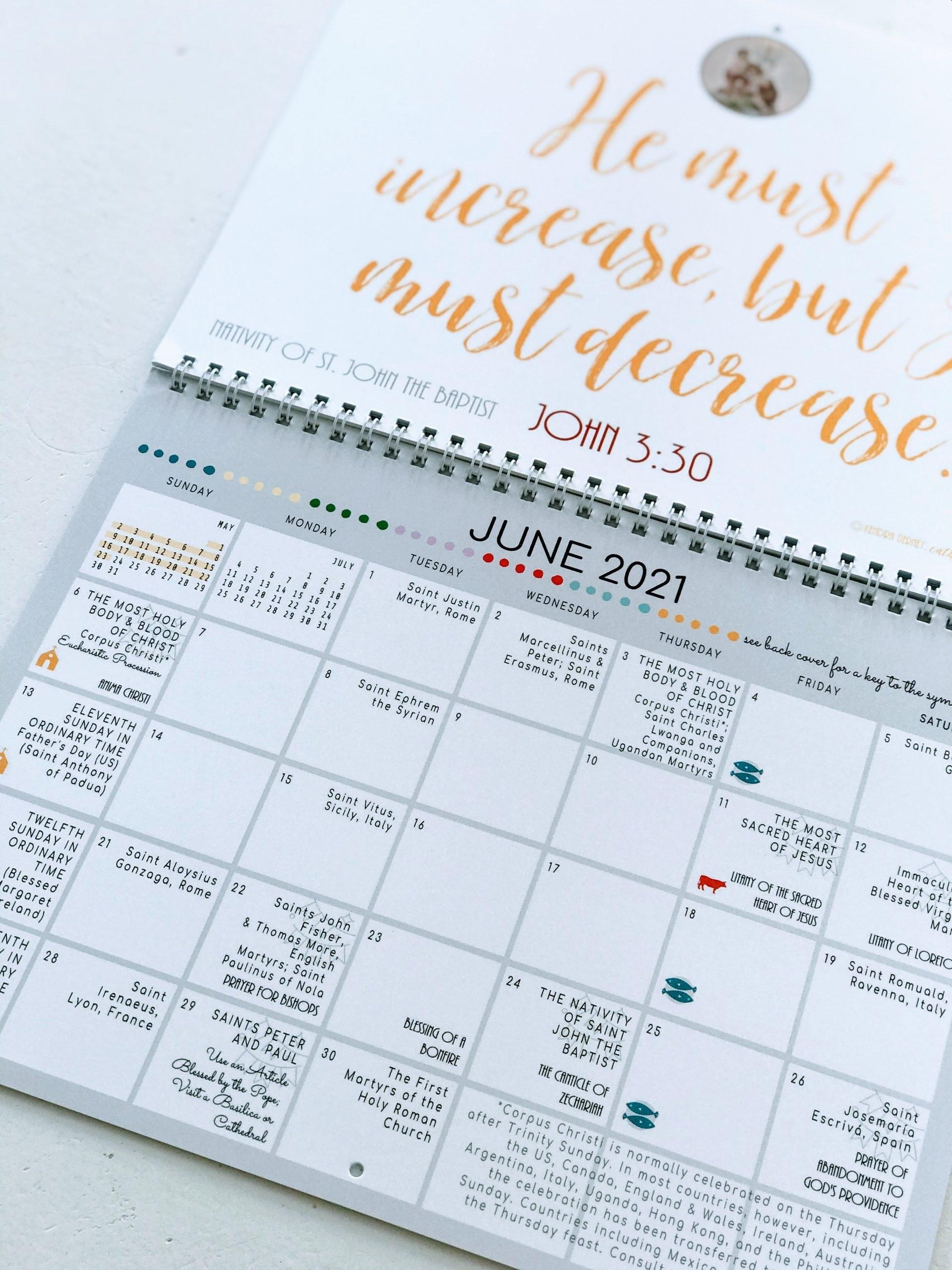 Free Printable Catholic Liturgical Calendar 2021 - 20+ Traditional Catholic Calendar 2021 - Free throughout Image Of 2021 Church Calendar