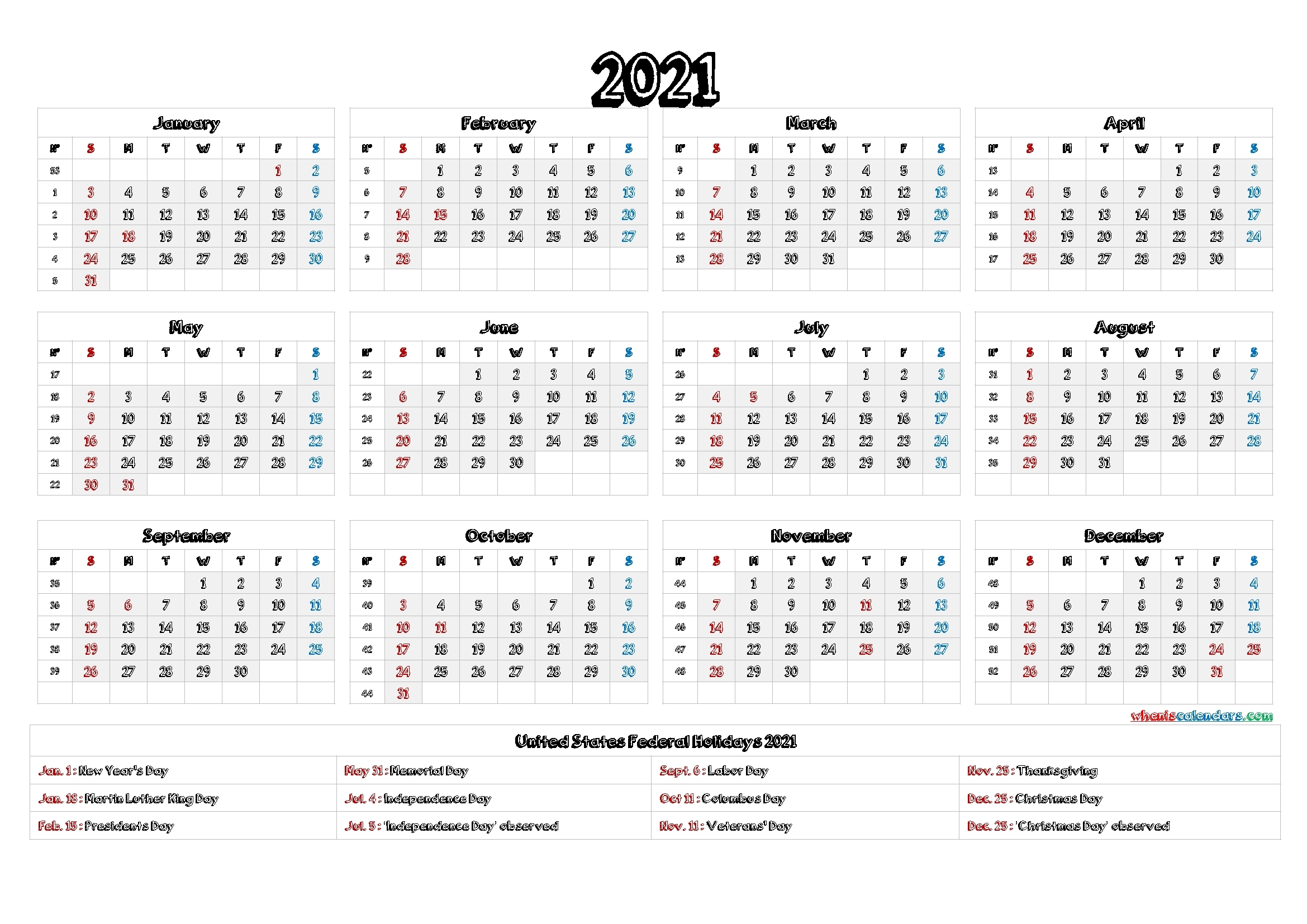 Free Printable Fill In Calendars 2021 | Calendar Template Printable pertaining to Printable Largebox Grid Calendar 2021