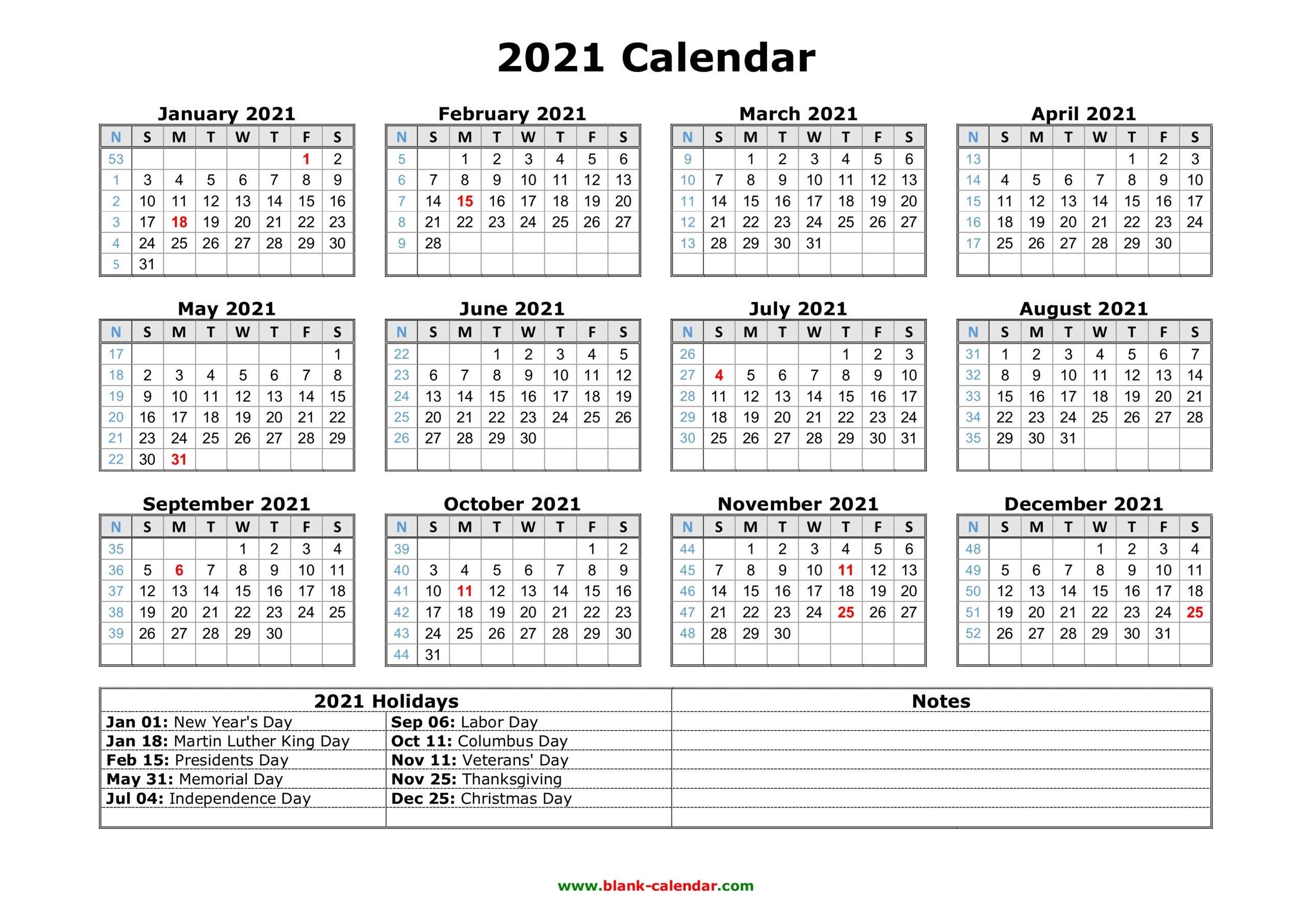 Free Printable Large Print 2021 Calendar   2021 Printable Calendars with regard to Large Print Free Printable Calendar 2021 Graphics