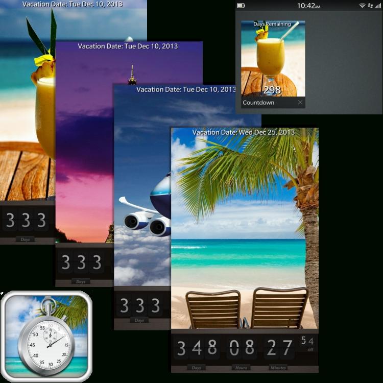 Free Vacation Countdown Wallpaper - Wallpapersafari inside Countdown Calendar For Computer Desktop