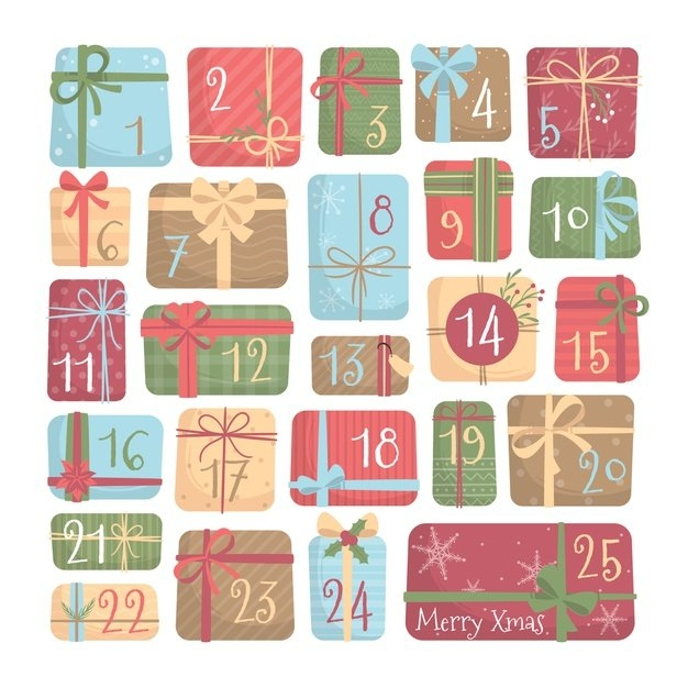 Free Vector | Advent Calendar Flat Design within Template For Advent Calendar Image