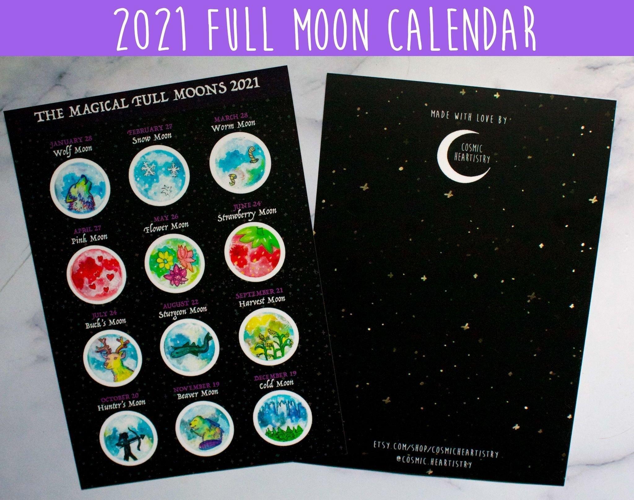 Full Moon Calendar 2021   Printable Calendars 2021 with regard to Lunar Moon Calendar 2021 Photo
